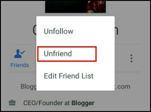 Facebook-unfriends