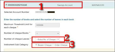 Sbi Cheque Book Request