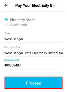 submit electricity connection details
