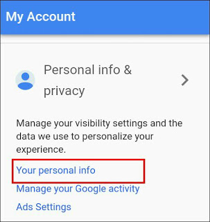 your-personal info