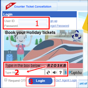 LOGIN IRCTC WEBSITE